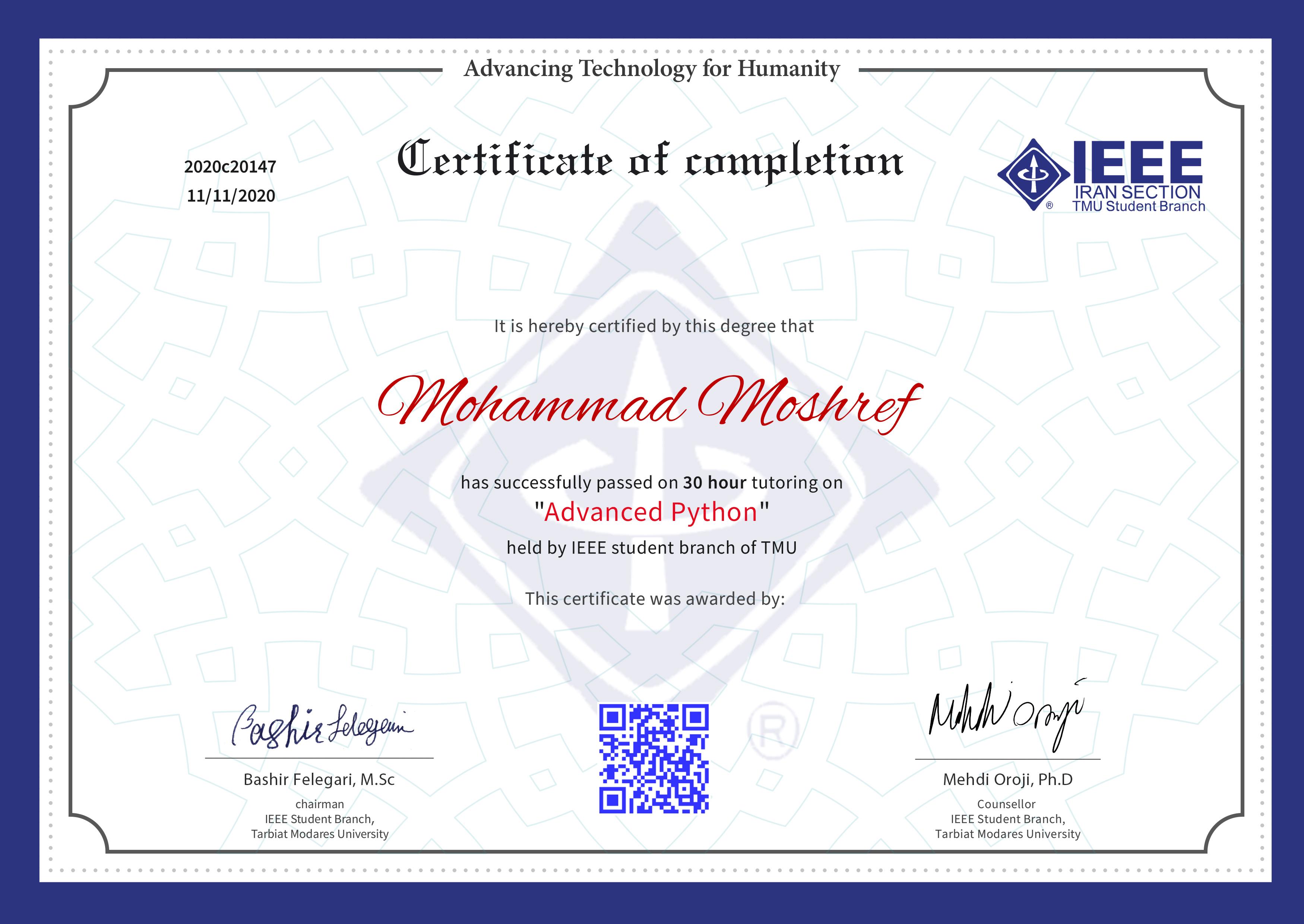 Mohammad Moshref
